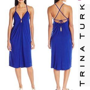 NET Trina Turk Gypsy Jersey Midi Dress Cover Up